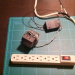 6 plug power strip connected to the relay board