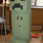 The completed cardboard creeper, ready for electronics