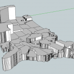 The map in Google Sketchup