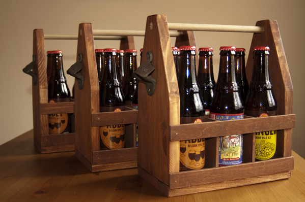 DIY wooden beer crates