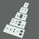 A collection of generated wall plates