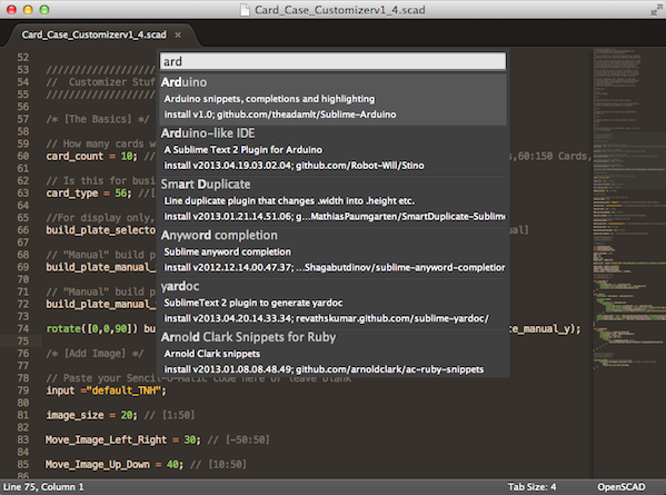 Sublime Text 2 Package Manager